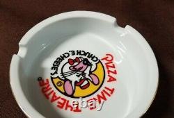 RARE Vintage Chuck E. Cheese Pizza Time Theater Ceramic Ashtray 1970's