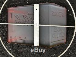 RARE Vintage Coca Cola Circle and Arrow Tin Sign