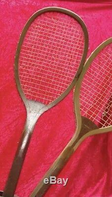 RARE Vintage Winchester 4 Tennis Racket & Base Store Display Advertising Store