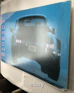 Rare 1989 Vintage Flying Porsche 911 Mounted Poster Sign Seinfeld North America