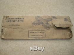 Rare C1920s Vintage Crawford's Air Service Pride Of London Aircraft Biscuit Tin