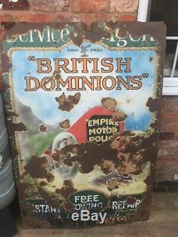 Rare Dominlon Vintage Enamel Sign