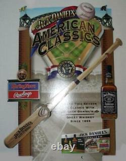 Rare Jack Daniel's Rawlings Engraved Wooden Baseball Bat 34 Vintage Whiskey No7
