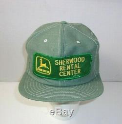 Rare John Deere Sherwood Farm Tractor Advertising Trucker Vintage Hat Cap