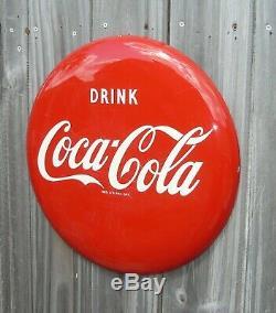 Rare Original Vintage Coca-cola Coke 16 Button Sign For A Pilaster