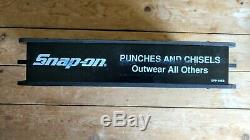 Rare Snap-On Tools Vintage Punches and Chisels Countertop Display Rack Promo