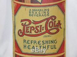 Rare Vintage 1932 Pepsi Cola Soda Pop 30 Embossed Metal Sign Tin Very Nice