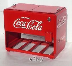 Rare Vintage 1939 Coca-cola Kay Display Embossed Salesman Sample Cooler & Case
