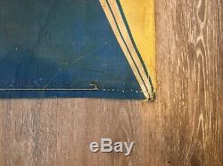 Rare Vintage 1957 Chevrolet Dealership Canvas Banner On Display Now