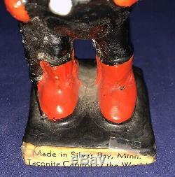 Rare Vintage 60s Rocky Taconite Minnesota Iron Ore Advertising Nodder Bobblehead
