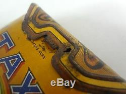 Rare Vintage Advertising Taxi Tobacco Vertical Pocket Tin Original Canada 778-p