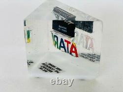Rare Vintage Atari Computers PaperWeight Lucite computer Chip