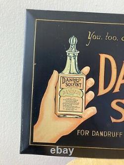 Rare Vintage Barber Shop Sign. Dandro solvent antique