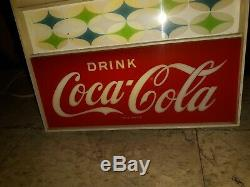 Rare Vintage Coca-cola Retro Coke Lighted Clock Working