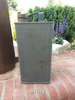 Rare Vintage Fuel can Roy's oil can petrol can