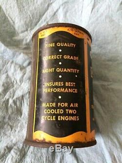 Rare Vintage Harley-Davidson 2-cycle Oil Can 1/2 Pint Unopened