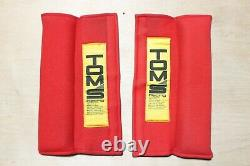 Rare Vintage JDM TOM'S Racing Seat Belt Harness Shoulder Pad Set, Red, toyota