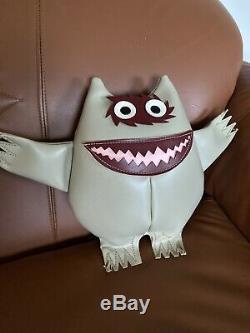 Rare Vintage MCM Naugahyde Nauga Monster Doll Toy Tan 1960s