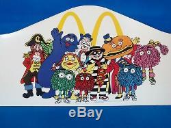 Rare Vintage Mcdonald's McKids McDonaldland Characters Advertising Sign 1987