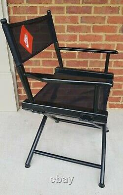 Rare Vintage NIKE SWOOSH Black Advertising Director's Chair