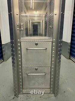 Rare Vintage Oakley Cabinet Aluminium Shop Shelving Display X-Metal