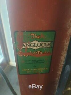 Rare Vintage Old Early Petrol Pump Gas Oil Garage Mancave Automobilia Anglo