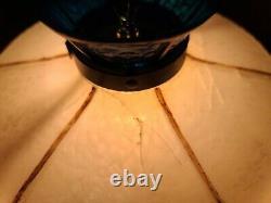 Rare Vintage Oldsmobile Dealer Desk Lamp Tiffany Style Plastic Light 1970s