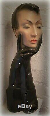 Rare Vintage Original Christian Dior Deco Plaster Mannequin Bust Store Display