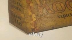 Rare Vintage Original Sign Kodak 2 Sided V116 Verichrome Film