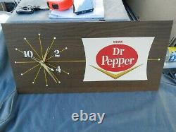 Rare Vintage Pam Drink DR Pepper Electric Clock 65-2 Works 1965