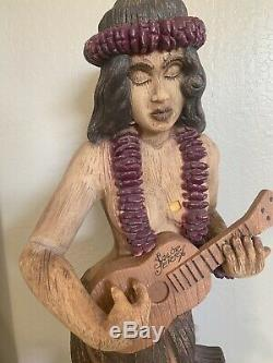 Rare Vintage Sailor Jerry Spiced Rum Hula Girl 5 1/2 Ft Statue Display