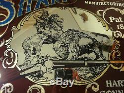 Rare! Vintage Sharp's Rifle, Breach Loader Buffalo Gun, Advertising Mirror Sign