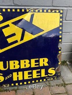 Rare Vintage Sussex Rubber Soles & Heels Repairs Enamel Sign Art Deco