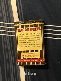 Rare Vintage Wagon Wheel Advertising Tobacco Tin