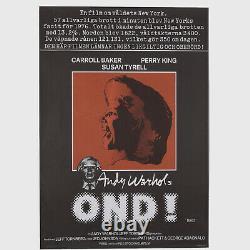 Rare Vintage c. 1977 Original Andy Warhol's Bad (Ond!) Poster MISC03.7188