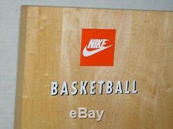 Rare Vtg Nike Wood Basketball Court Sneaker Tennis Shoe Display Store Promo Rack