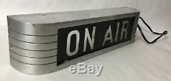 Rare Vtg Rca On Air Light Studio Warning Sign Radio Station Recording Aluminum