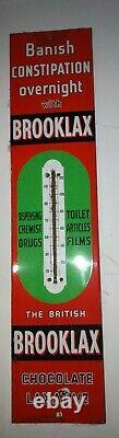 Rare vintage Brooklax thermometer enamel sign