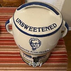 Super Rare 3 Pc Kfc Kentucky Fried Chicken Unsweetened Ice Tea Crock Server Vtg