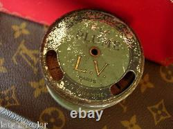 Ultra RARE Vintage LOUIS VUITTON Litho Factory Thread Spool Trinket Dish LV
