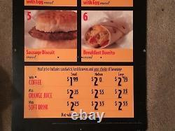 VERY RARE! Vintage, Original MCDONALDS Food, Drive Thru Sign 80s 90s