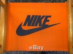 VHTF Vintage 1980s Nike Rare Orange Canvas Directors Chair Store Display 33