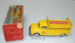 VINTAGE 1950'S JAPAN TIN FRICTION COCA-COLA LINEMAR TRUCK WithRARE ORIG. BOX