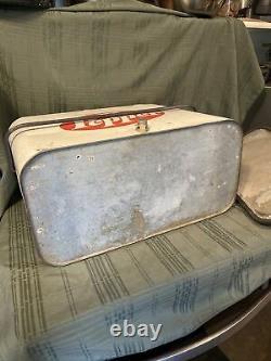 VINTAGE 1950s-60s DR PEPPER COOLER RARE! Soda Airline Cooler