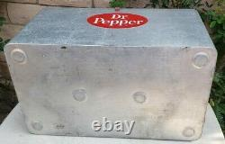 VINTAGE 1950s DR PEPPER COOLER RARE Progress Refrigerator Cronstroms Rare