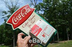 VINTAGE 60s RARE COCA COLA SODA DRINK FISHTAIL CALENDAR SUPER PIECE HARD TO FIND
