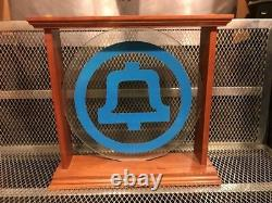 VINTAGE Bell System RARE / HARD TO FIND Glass w Wood Frame Logo Telephone