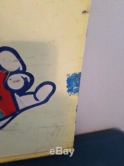 (VTG) 1970s ICEE Bear Advertising bear Slushie Slushy metal store sign rare