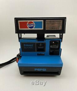 VTG Polaroid Pepsi Spirit 600 One Step Instant Camera Promo Advertising Rare