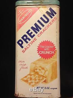 Very! Rare! Vintage 1969 15 Oz 15 Oz 15 Nabisco Premium Saltine Crackers Tin